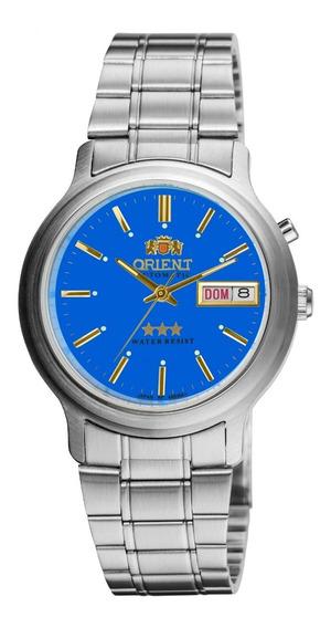 Relógio Orient Masculino Automático 469wa1a A1sx Azul Aço