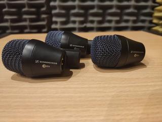 Pack 3 Microfonos Sennheiser E904 + Clamp + Funda