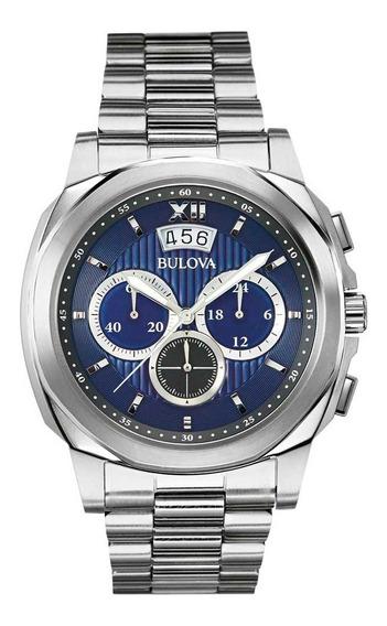 Relógio Bulova Masculino Azul - Original C/ Certificado