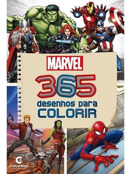 Livro Com 365 Desenhos Para Colorir Marvel 367 Paginas