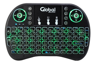 Teclado Inalambrico Pc Tv Smart Android Con Luz Y Mouse