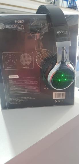 Headphone Bluetooth Wireless Usb F- 037 Led Metal
