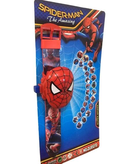Relógio Infantil Homem Aranha Brinquedo Projetor Imagem 24