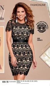 Oferta/outlet Remate Vestido Negro Crochet Cklass 928-78