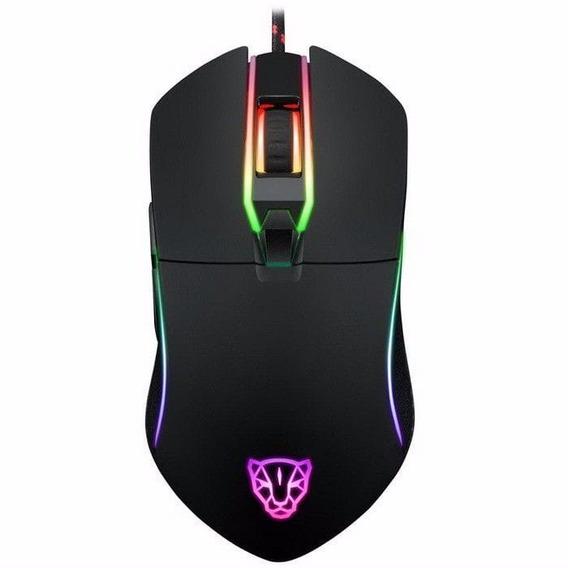 Mouse Gamer Motospeed V30 3500 Dpi Led Óptico Com Fio Gaming