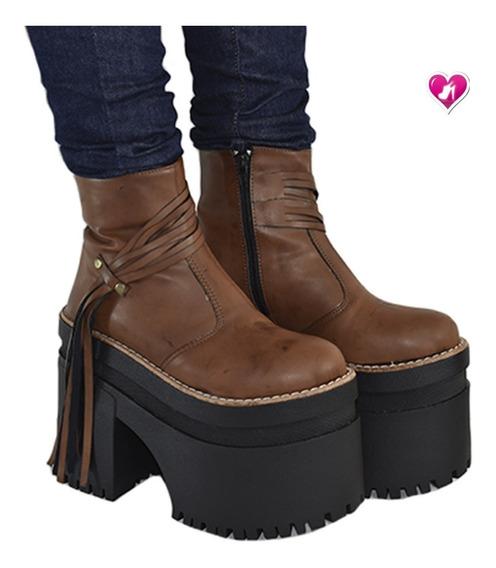 Bota Botineta Super Plataforma Modelo Moscu De Shoes Bayres