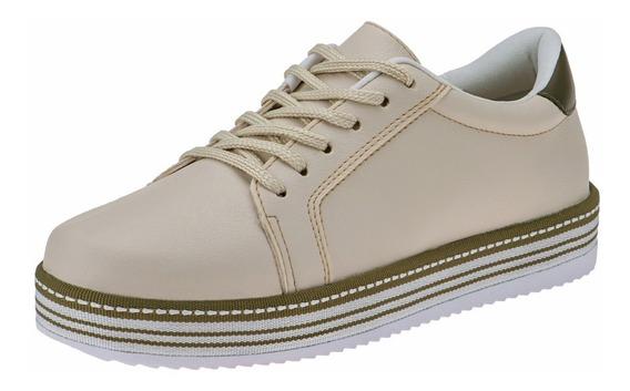 Tenis Feminino Casual Sapatenis Sapato Barato Sola Macia
