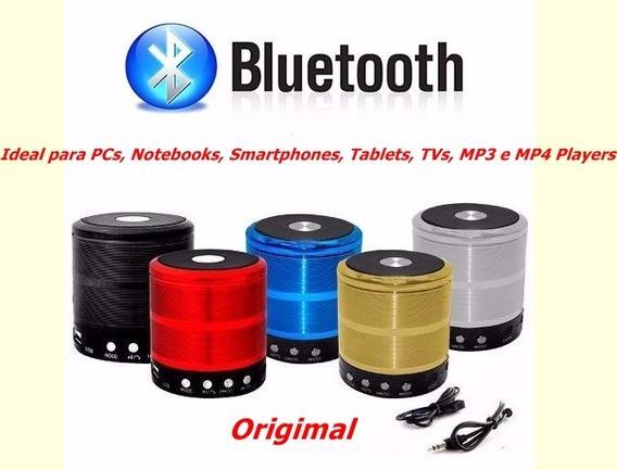 Caixa De Som Bluetooth Mini Original Fm Pen Drive P2 Cartão