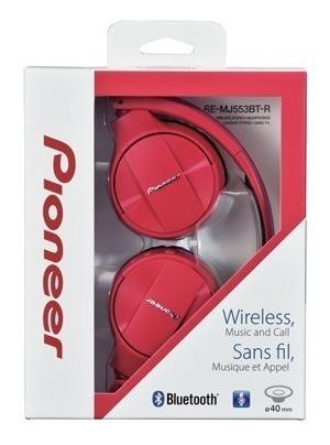 Headphone Pioneer Preto Bluetooth Se-mj553bt-r