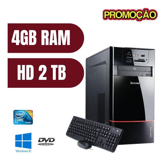 Cpu Desktop Lenovo Core 2 Duo 4gb Ram Hd 2tb Win10 - Oferta