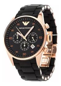 Relógio Empório Armani Ar 5905 Preto Rose Original