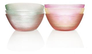 Set X 6 Bowls Compoteras De Vidrio En Oferta Pce