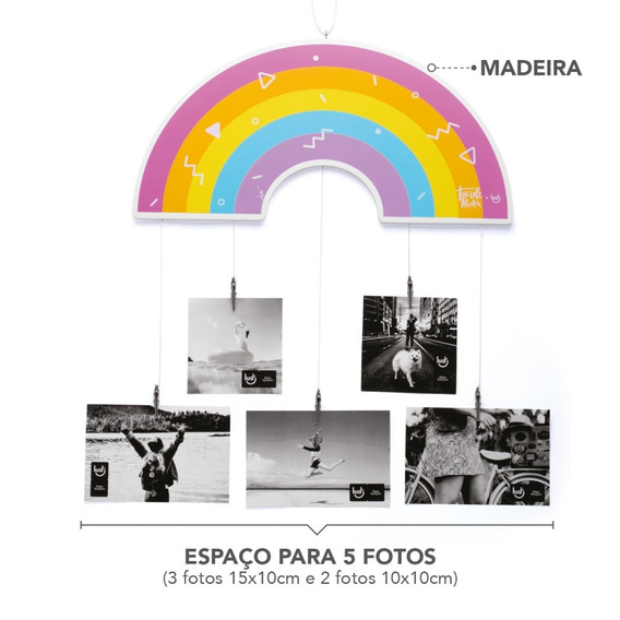 Porta Retrato / Mobile De Fotos - Arco Íris Taciele