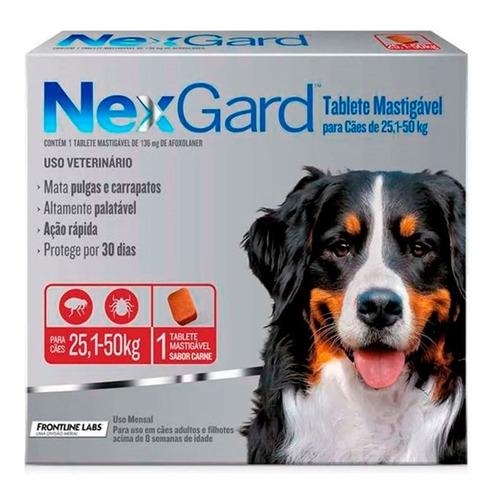 Antipulgas E Carrapatos Nexgard Para Cães 25 A 50kg - Merial