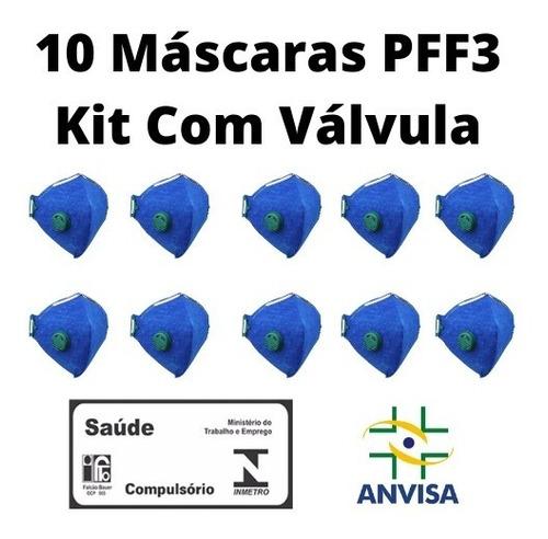 10 Máscaras Semi-facial Pff3 N95 C/ Ca E Válvula Delta Plus