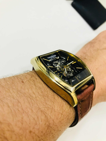 Relógio Technos Automático Pulseira De Couro