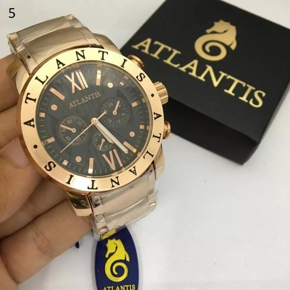 3 Relógios Masculinos 100% Original Atlantis Várias Cores