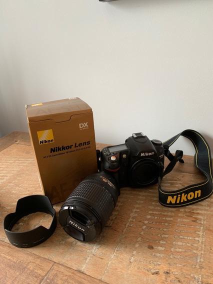 Câmera Digital D80 Com Lente Nikon 18-135mm F/3.5-5.6g