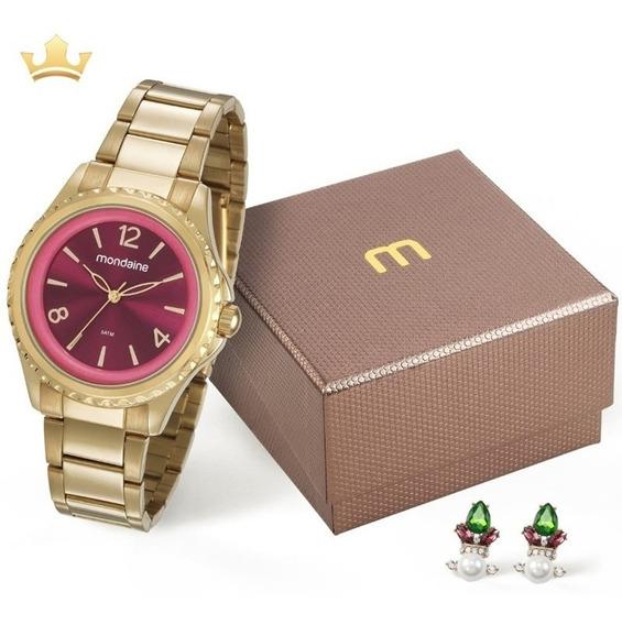 Kit Relógio Mondaine Feminino 53600lpmvde1ky Com Nf
