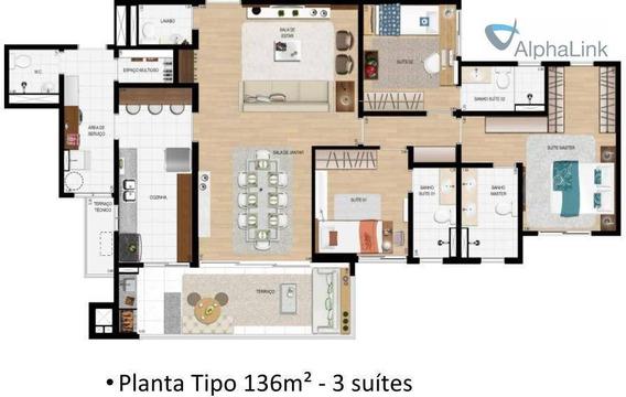 Venda Ou Aluguel Investido Mpd - Boulevard Tamboré - 136 M² 3 Suítes - Santana De Parnaíba - Ap0997