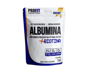 Albumina + Biotina - 1 Kg - Profit Labs