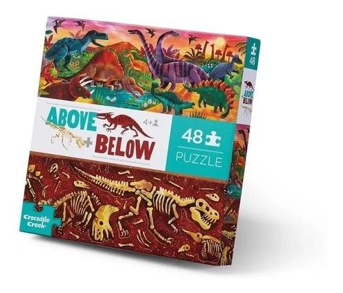 Puzzle Rompecabezas 48 Piezas Arriba/abajo Dinocroco Edu
