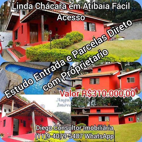Chácara Em Atibaia Estudo Entrada E Parcelas