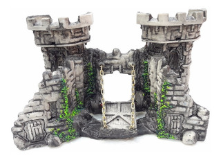 Adornos Para Acuarios - Castillo Medieval Chico Resina