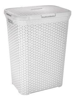 Canasto Cesto Para Ropa Sucia Baño Plastico Ratan Grande Colombraro