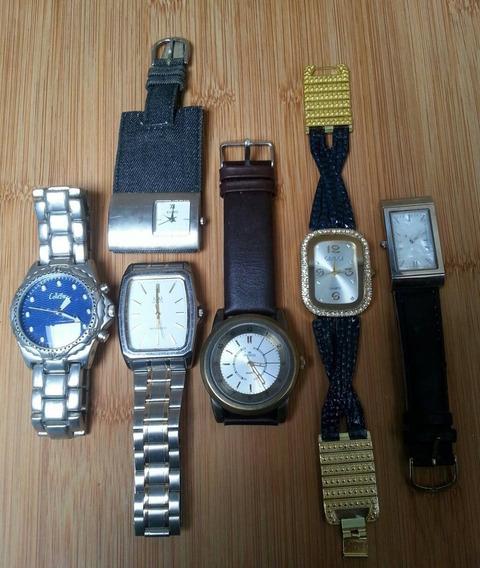 Relógios Multimarcas - Lote Com 6