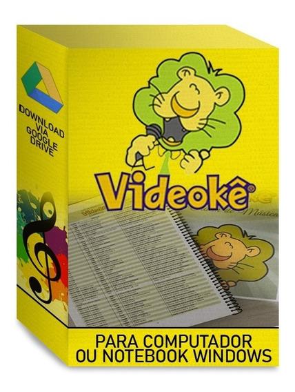 Karaoke Para Notebook E Computador Completo C/ 9345 Músicas!