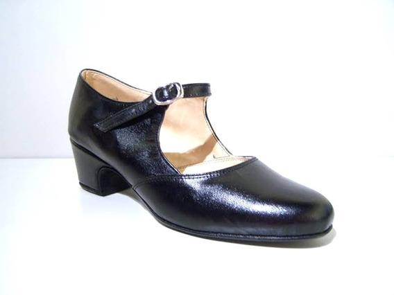 Zapato Para Tap Danza Cuero Vacuno Genuino