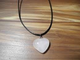 Colar Coração Rosa Pedra Natural Gargantilha Cordão Preto