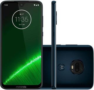 Motorola Moto G7 Plus 64gb Indigo Novo Nacional + Brindes!!