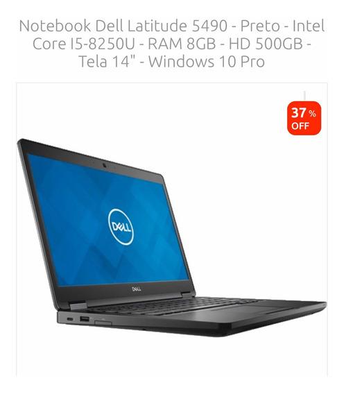 Notebook Dell Latitude 5490 I5 8gb Zero Lacrado +nota