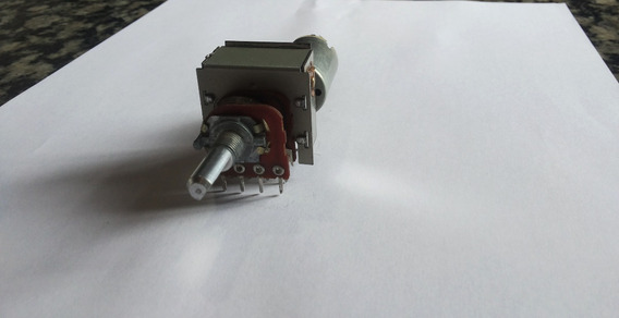 Potenciômetro Duplo Com Derivação De 100k B Com Motor