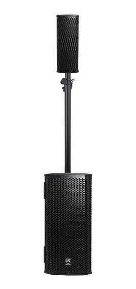 Amw La208 Caixa De Som Ativa Line Array Vertical 2x8 + 2x4 1000w Com Dsp Integrado Amplificada Subwoofer + Satélite Loja