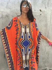 Vestido Longo Africano Estampado Dashiki Kaftan Plus Size