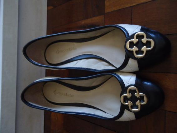 Sapato Anabela Capodarte Preto E Branco 33