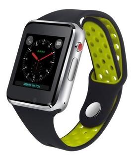 Relógio Inteligente Faz E Recebe Chamadas Detalhe Verde Novo