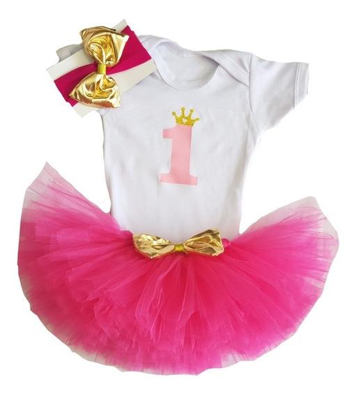 Tutú Primer Año Princesa Cumpleaños Pañalero