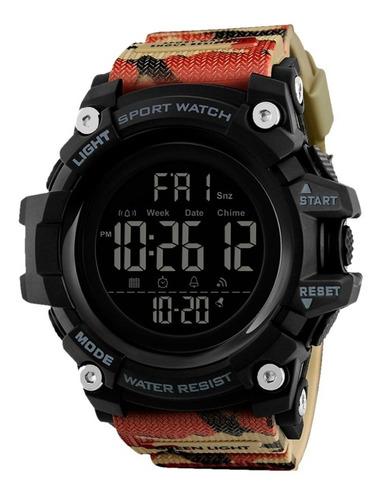Reloj Sport Militar Contra Agua Digital Alarma 1384 Redlemon