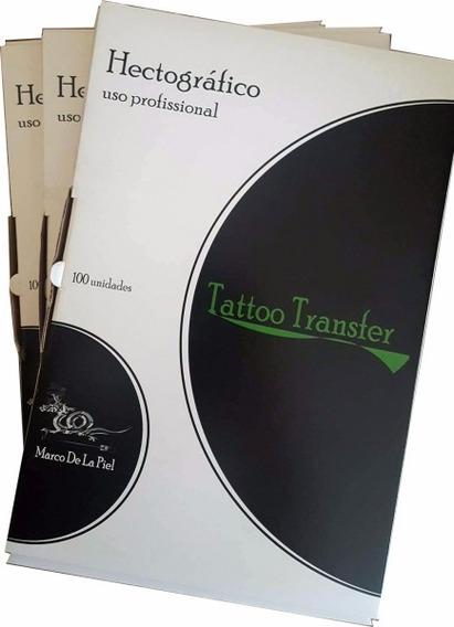 Papel Hectográfico Marco De La Piel 100 Folhas Tatuagem *