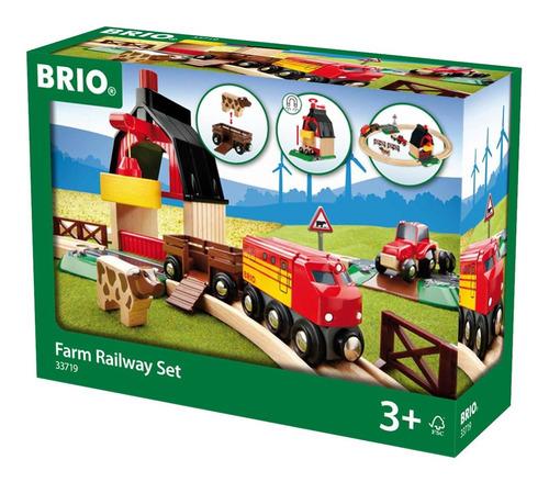 Brio Farm Railway Set Set De Trenes De Juguete Para Niños
