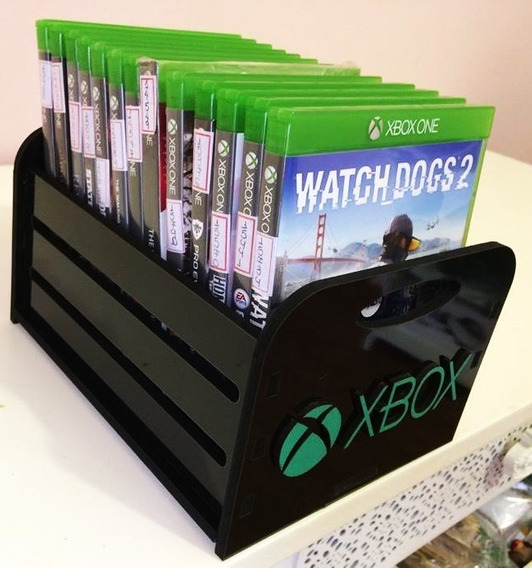 Porta Jogos, Caixa, Case P/ Game - Xbox Preto