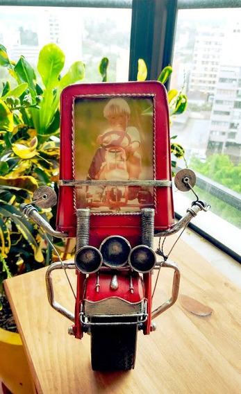 Porta-retrato Frente Retrô De Moto Vintage Motoqueiro