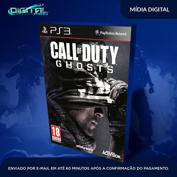 Call Of Duty Ghosts Ps3 Psn Original Dublado Envio 30 Minuto