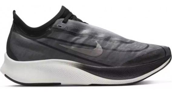 Tênis Nike Zoom Fly 3 Fem. Preto E Cinza Academia, Corrida