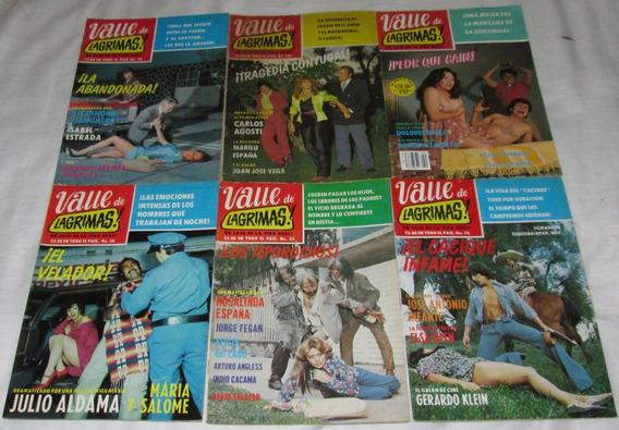 Valle De Lagrimas. Lote De 10 Fotonovelas. Revistas 70´s 80´