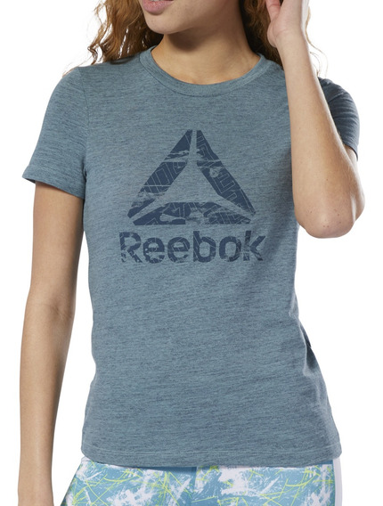 Remera Reebok Training Marble Logo Mujer Gf